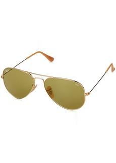Ray-Ban Men's Aviator Large Metal Sunglasses GOLD