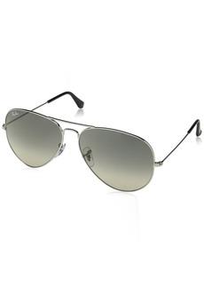 Ray-Ban Men's Aviator Large Metal Sunglasses SILVER 54.5 mm