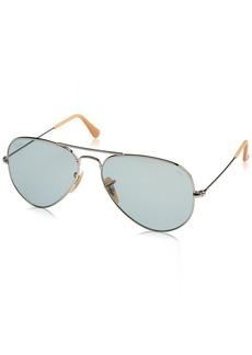 Ray-Ban Men's Aviator Large Metal Sunglasses SILVER