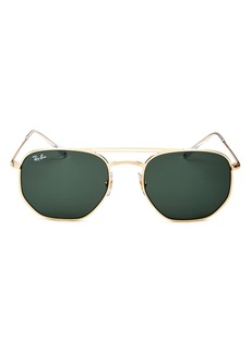 Ray-Ban Unisex Brow Bar Aviator Sunglasses, 54mm
