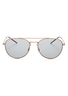 Ray-Ban Unisex Brow Bar Aviator Sunglasses, 55mm