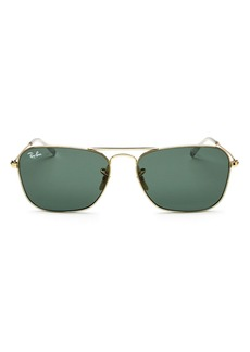 Ray-Ban Men's Brow Bar Aviator Sunglasses, 58mm