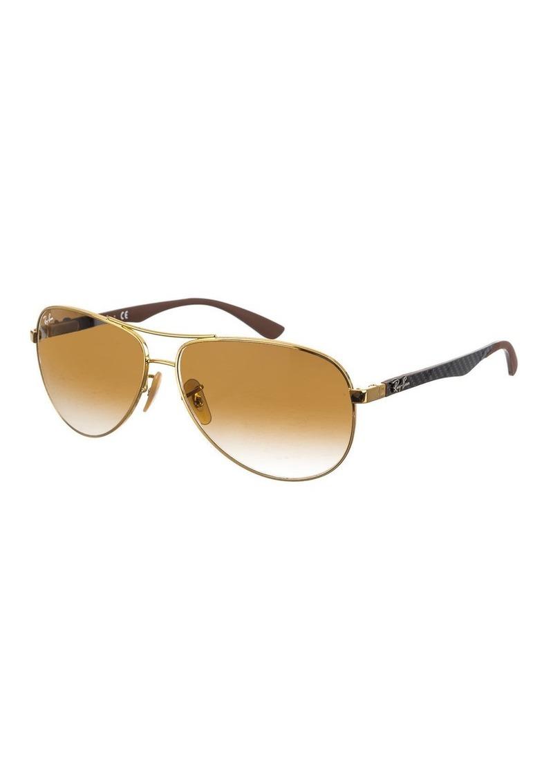 Ray-Ban Men's Carbon Fibre Aviator Sunglasses