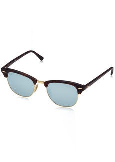 Ray-Ban Men's Clubmaster Non-Polarized Iridium Aviator Sunglasses