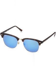 Ray-Ban Men's Clubmaster Non-Polarized Iridium Square Sunglasses  55.0 mm