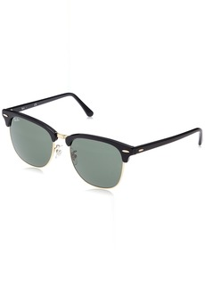 Ray-Ban Men's Clubmaster Square Sunglasses EBONY/ORO 55.0 mm