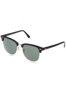Ray-Ban Men's Clubmaster Square Sunglasses Ebony/ORO 55.0 mm