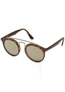 Ray-Ban Men's Injected Unisex Non-Polarized Iridium Round Sunglasses