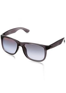 Ray-Ban Men's Justin Non-Polarized Iridium Rectangular Sunglasses  57.8 mm