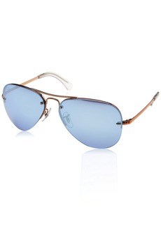 Ray-Ban Men's Metal Man Sunglass Non-Polarized Iridium Aviator COPPER