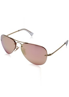 Ray-Ban Men's Metal Man Sunglass Non-Polarized Iridium Aviator GOLD