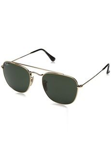 Ray-Ban Men's Metal Man Sunglass Square GOLD/GREEN 54 mm
