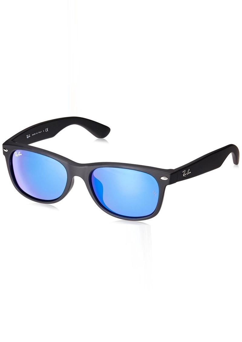 Ray-Ban Men's New Wayfarer (f) Non-Polarized Iridium Square Sunglasses  54.0 mm