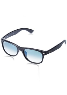 Ray-Ban Men's New Wayfarer (f) Square Sunglasses BLACK 54 mm