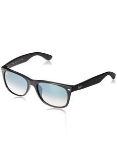 Ray-Ban Men's New Wayfarer (f) Square Sunglasses BLACK 57.7 mm