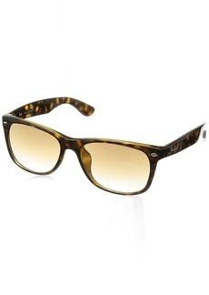 Ray-Ban Men's New Wayfarer (f) Square Sunglasses LIGHT HAVANA 57.7 mm