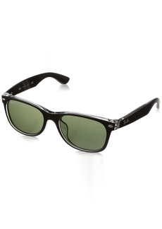 Ray-Ban Men's New Wayfarer (f) Square Sunglasses TOP Black ON Transparent 54.0 mm