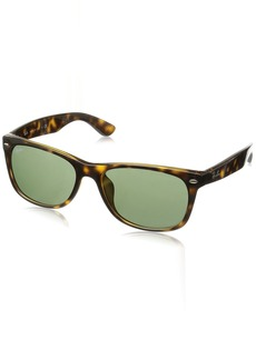 Ray-Ban Men's New Wayfarer (f) Square Sunglasses TORTOISE 57.7 mm