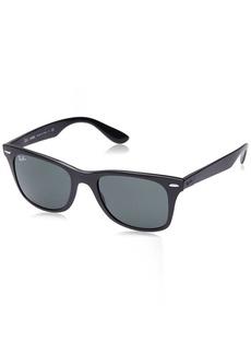 Ray-Ban Men's Nylon Man Non-Polarized Iridium Square Sunglasses Matte