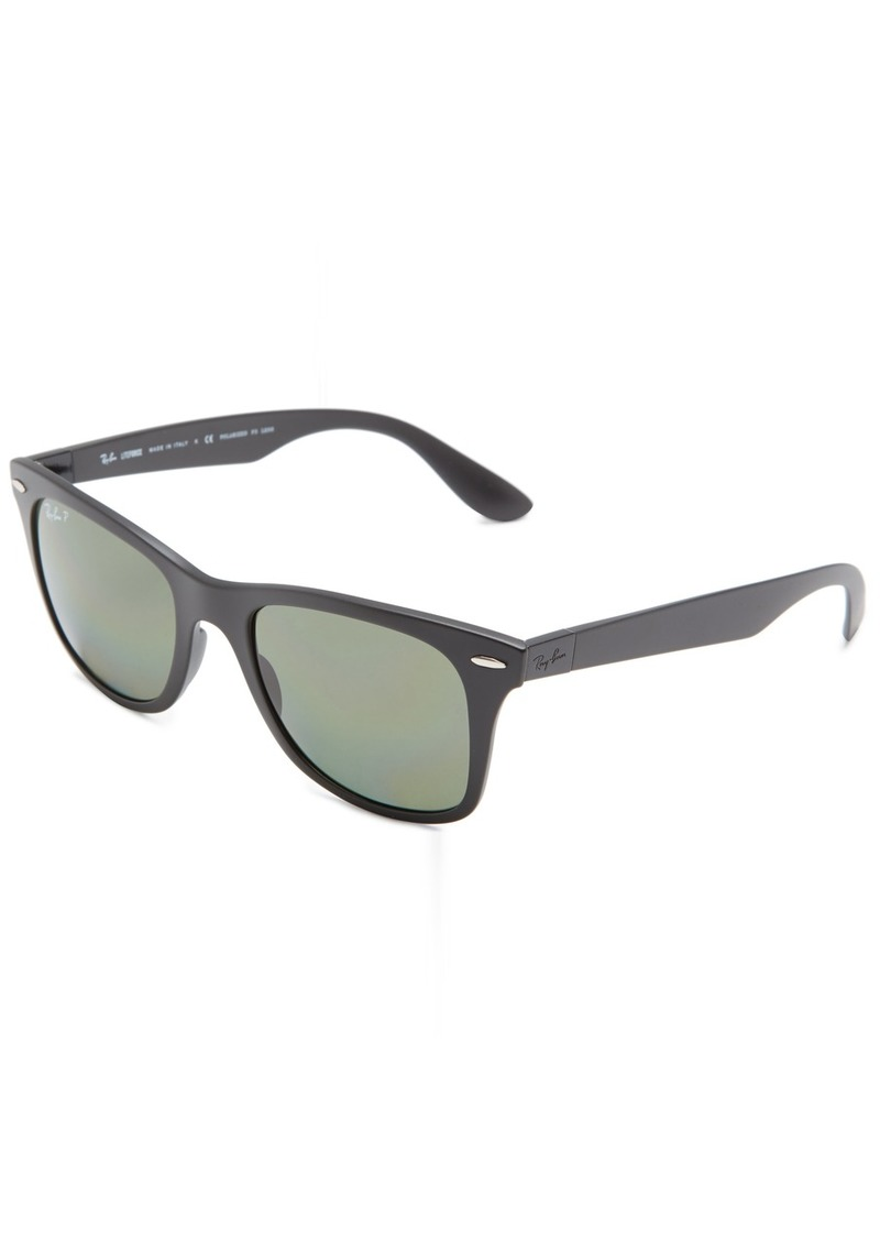 Ray-Ban Men's Nylon Man Polarized Iridium Square Sunglasses
