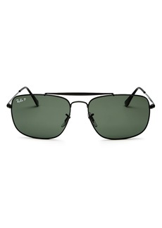 Ray-Ban Men's Polarized Brow Bar Aviator Sunglasses, 61mm