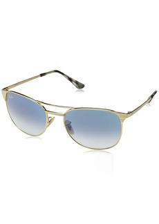 Ray-Ban Men's RB3429M Square Metal Sunglasses