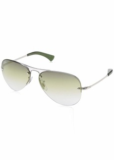 Ray-Ban Men's Rb3449 Aviator Sunglasses  59.0 mm