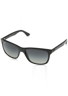 Ray-Ban Men's Rb4181 Square Sunglasses SHINY BLACK 57 mm