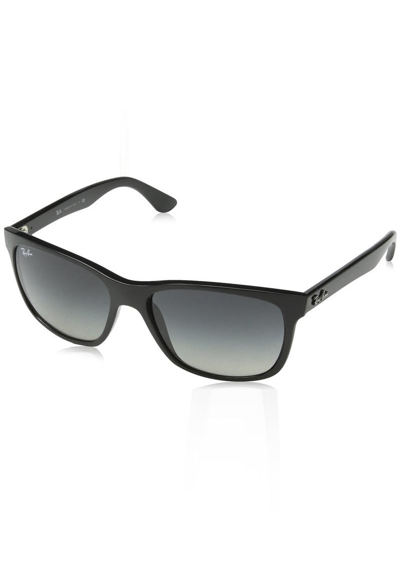 Ray-Ban Men's Rb4181 Square Sunglasses SHINY BLACK 57 mm