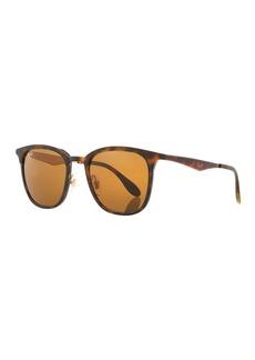 Ray-Ban Men's RB4278 Square Sunglasses  Black