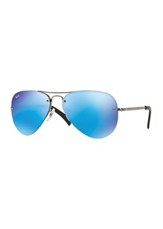 Ray-Ban Men's Semi-Rimless Aviator Sunglasses