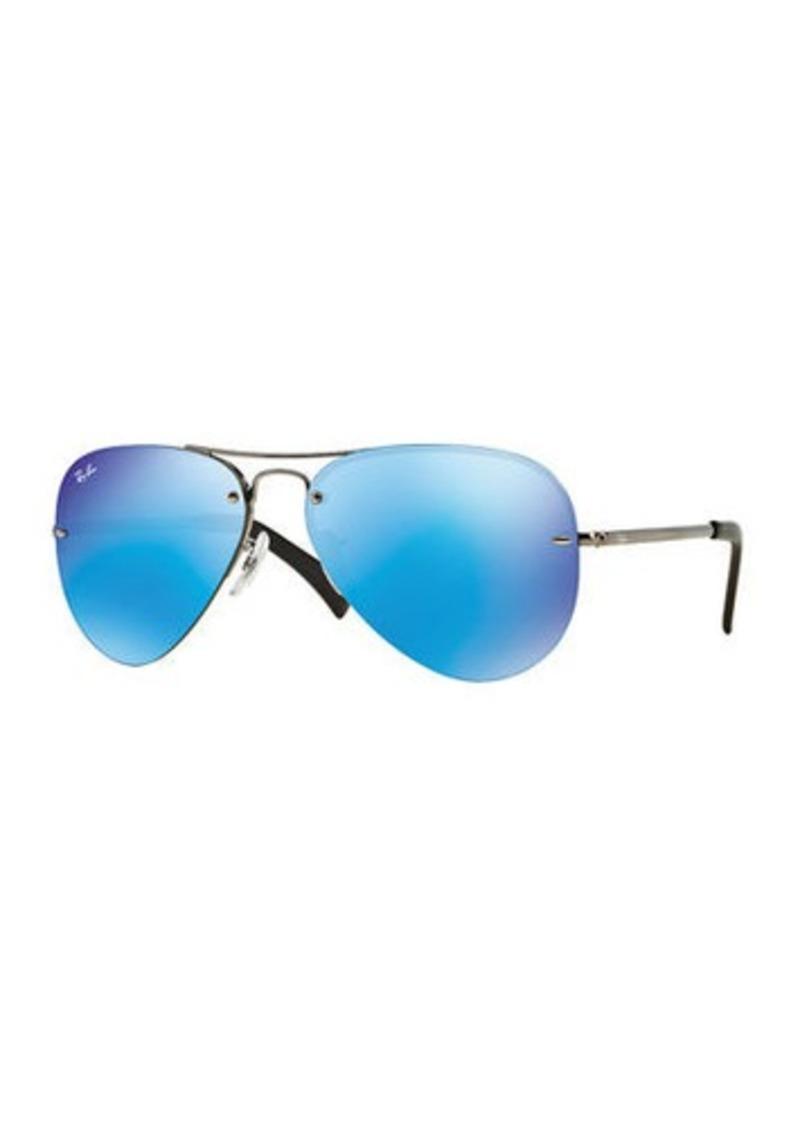 Ray-Ban Men's Semi-Rimless Aviator Sunglasses