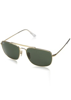 Ray-Ban Men's Steel Man Sungkass Square Sunglasses  60 mm