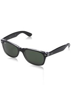 Ray-Ban menswomen's New Wayfarer Square Sunglasses TOP Black ON Transparent