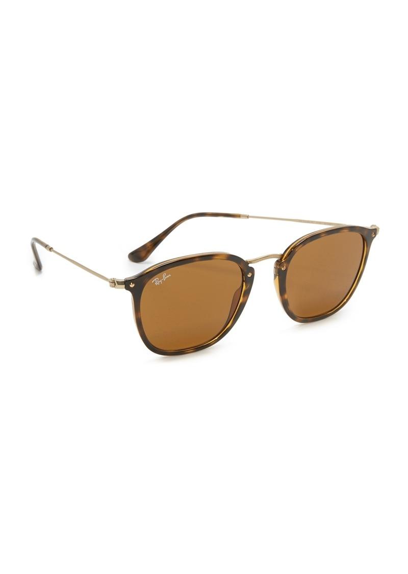 Ray-Ban RB2448N Icons Metal Bridge Square Sunglasses