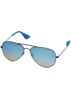 Ray-Ban Metal Unisex Aviator Sunglasses Electric Blue