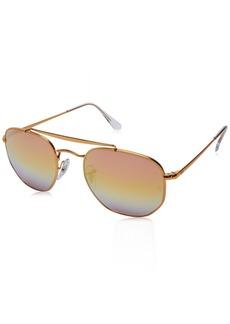 Ray-Ban RB3648 Marshall Aviator Sunglasses Bronze-Copper / Pink Gradient Mirror  Non-Polarized