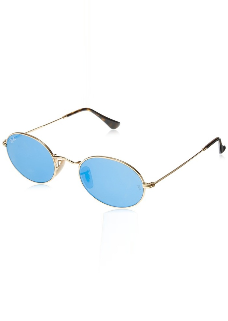 Ray-Ban Metal Unisex Sunglass Non-Polarized Iridium Round GOLD