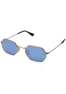 Ray-Ban Metal Unisex Sunglass Oval GOLD 53 mm