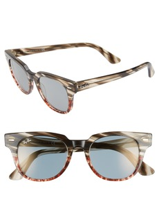 Ray-Ban Meteor 50mm Mirrored Wayfarer Sunglasses