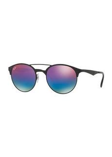 Ray-Ban Mirrored Iridescent Round Double-Bridge Sunglasses