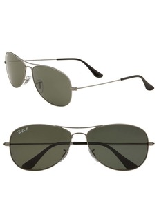 Ray-Ban 'New Classic Aviator' 59mm Polarized Sunglasses
