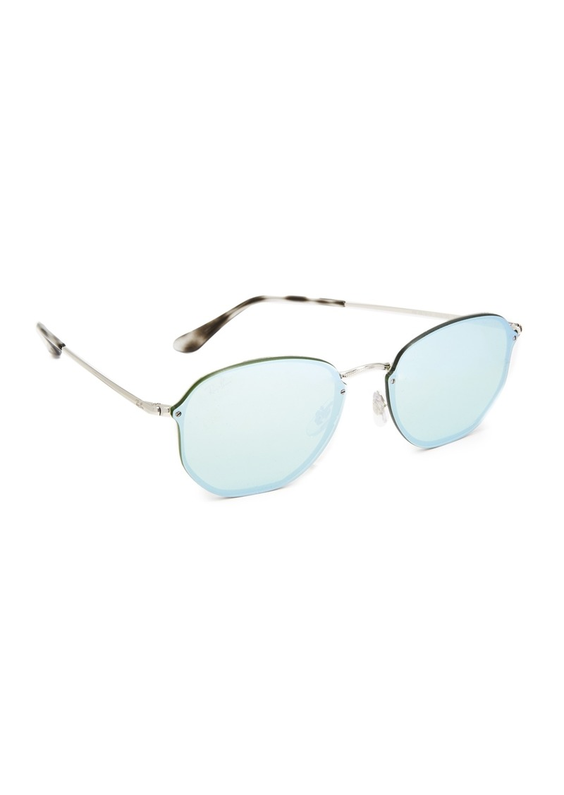 feeac956ce Ray-Ban Ray-Ban Octagon Flat Mirrored Sunglasses
