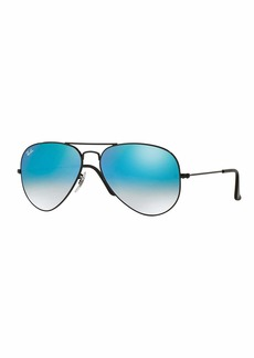 Ray-Ban Ombre-Mirrored Aviator Sunglasses