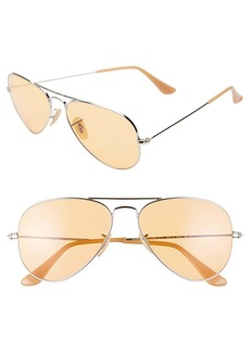 Ray-Ban Original 55mm Tinted Aviator Sunglasses