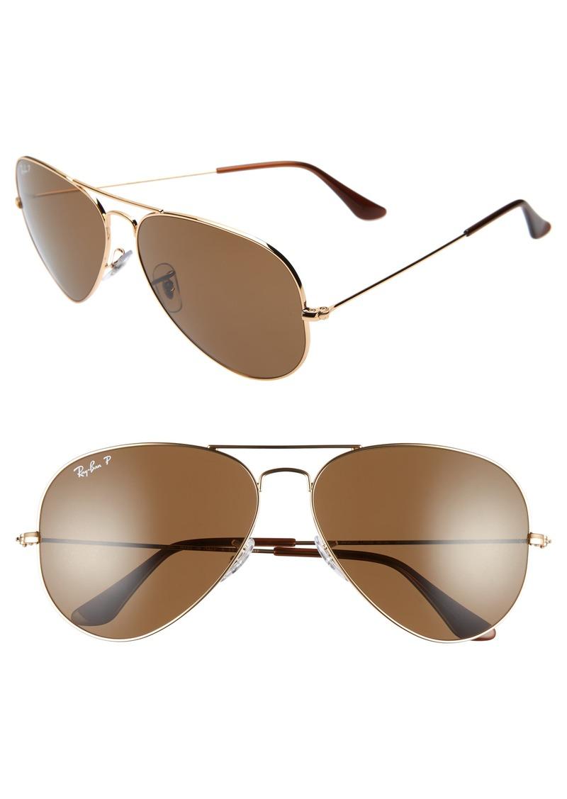 021d446641d0 Ray-Ban Ray-Ban Original 62mm Oversize Polarized Aviator Sunglasses ...