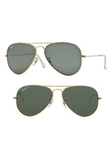 Ray-Ban Original 62mm Oversize Polarized Aviator Sunglasses