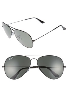 Ray-Ban Original Aviator 62mm Polarized Sunglasses