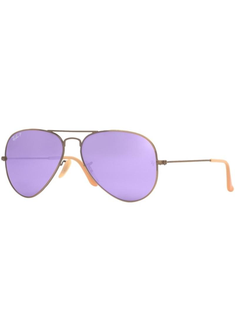 d0dc8c3399 Ray-Ban Ray-Ban Polarized Original Aviator Mirrored Sunglasses ...