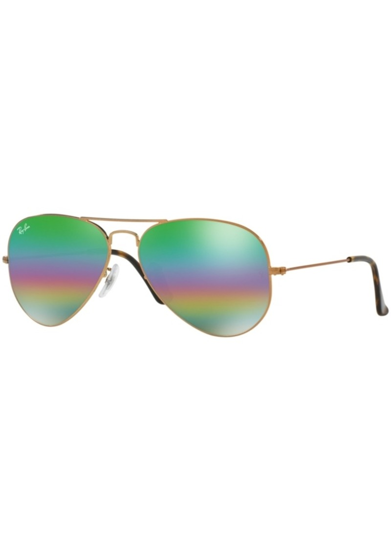 96fa75c182 Ray-Ban Ray-Ban Original Aviator Rainbow Mirrored Sunglasses